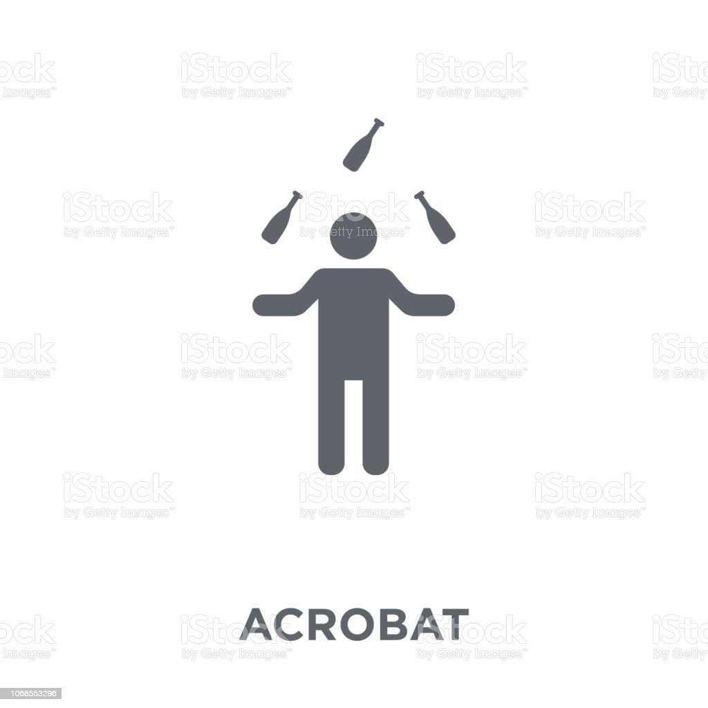 Acrobat icon from Circus collection. vector art illustration