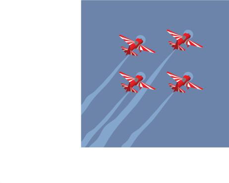 Acrobatic formation