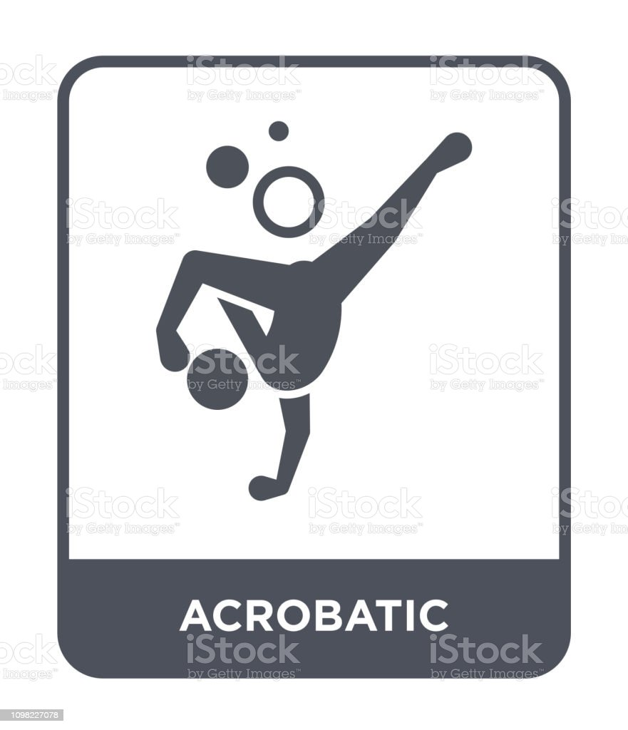 acrobatic icon vector on white background, acrobatic trendy filled icons from Magic collection vector art illustration
