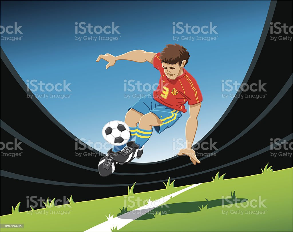 Acrobatic Soccer Player royalty-free stock vector art