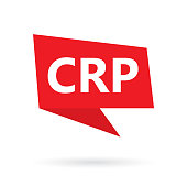 CRP (C-reactive protein) acronym on a speach bubble