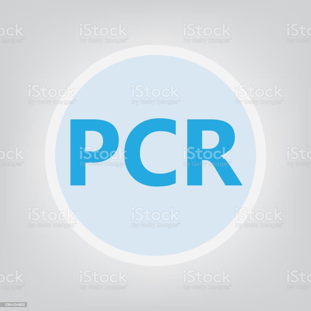 PCR (Polymerase Chain Reaction) acronym vector art illustration