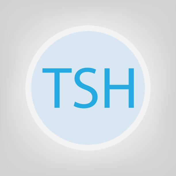ilustraciones, imágenes clip art, dibujos animados e iconos de stock de acrónimo de tsh (hormona estimulante de tiroides) - thyroxine