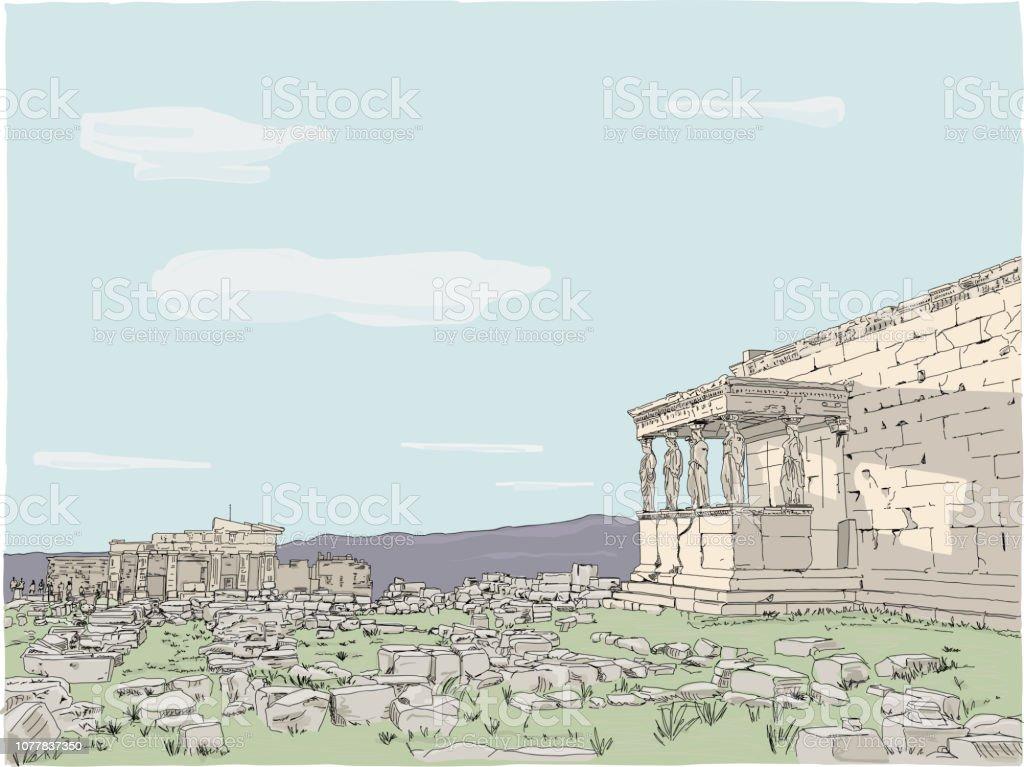 AcropolisField vector art illustration