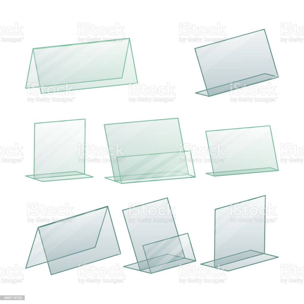 Acrylwerbung Stand Halter Vektor Werbung Ständer Halter Für Papier ...