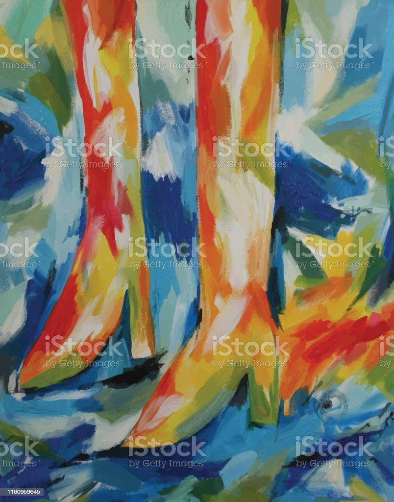 Vectorised abstract acrylic painting.