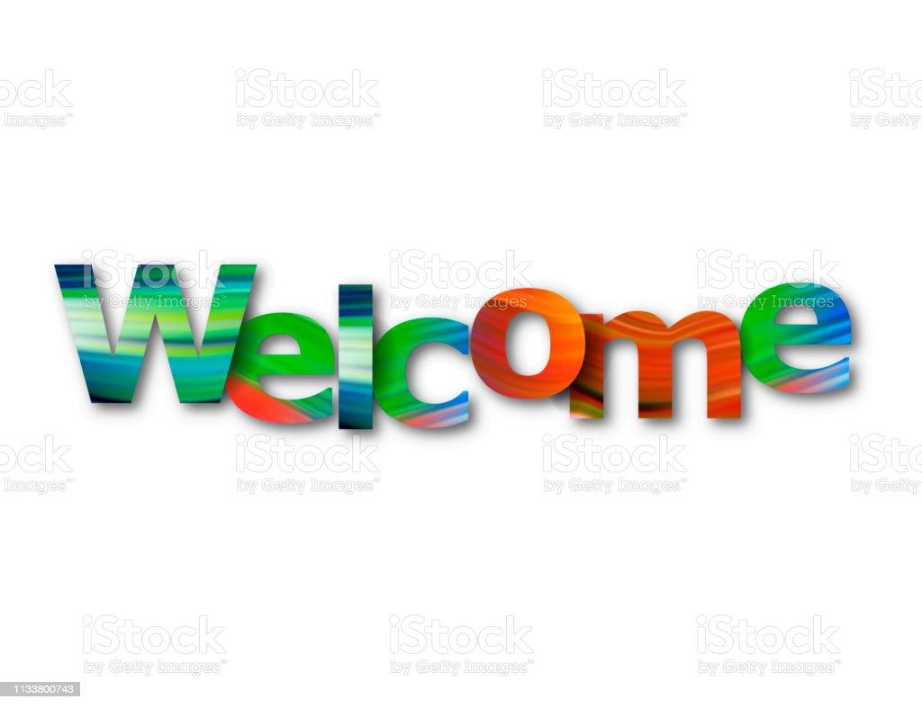 Bild auf Leinwand // 2020 Willkommen Welcome Moderens