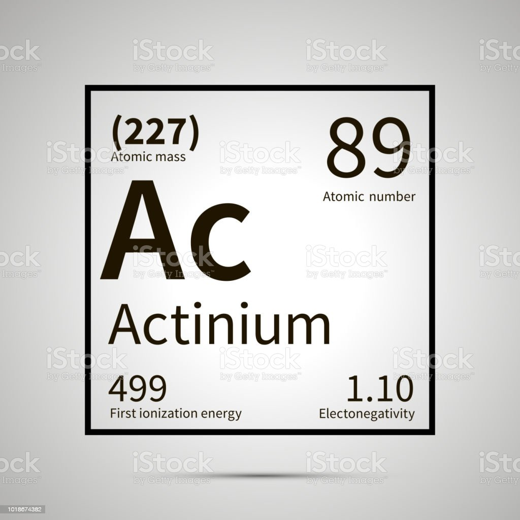 Actinium Chemical Element With First Ionization Energy