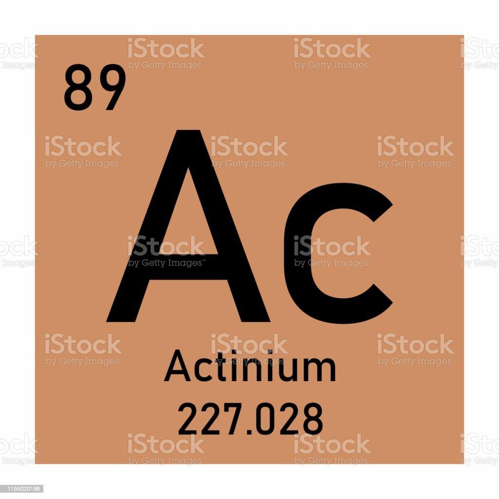 Actinium Chemical Symbol Stock Illustration - Download Image