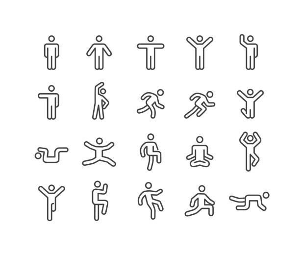 Action Icons - Classic Line Series Action, motion, people, person icon stock illustrations