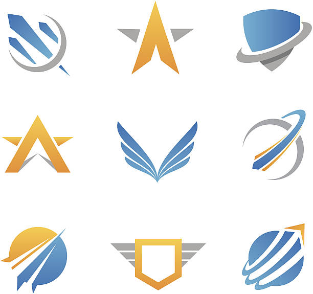 Action logos and icons http://www.markoradunovic.com/istock/logos_new.jpg aircraft wing stock illustrations