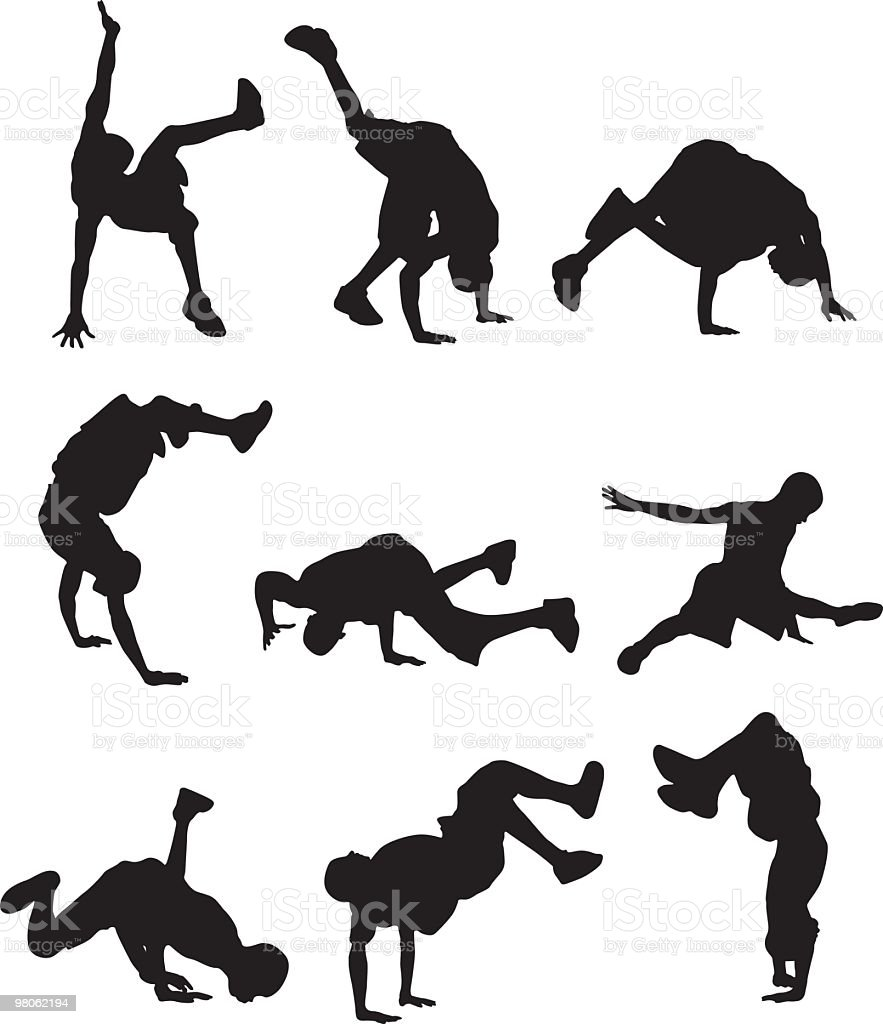 Action packed break dancers royalty-free action packed break dancers stock vector art & more images of 18-19 years