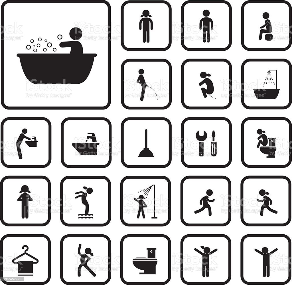 action people and  hygiene icons set royalty-free action people and hygiene icons set stock vector art & more images of activity