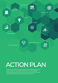 Action Plan. Brochure Template Layout, Cover Design