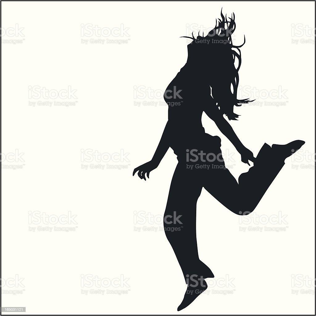 Action Posing Girl 07 royalty-free stock vector art