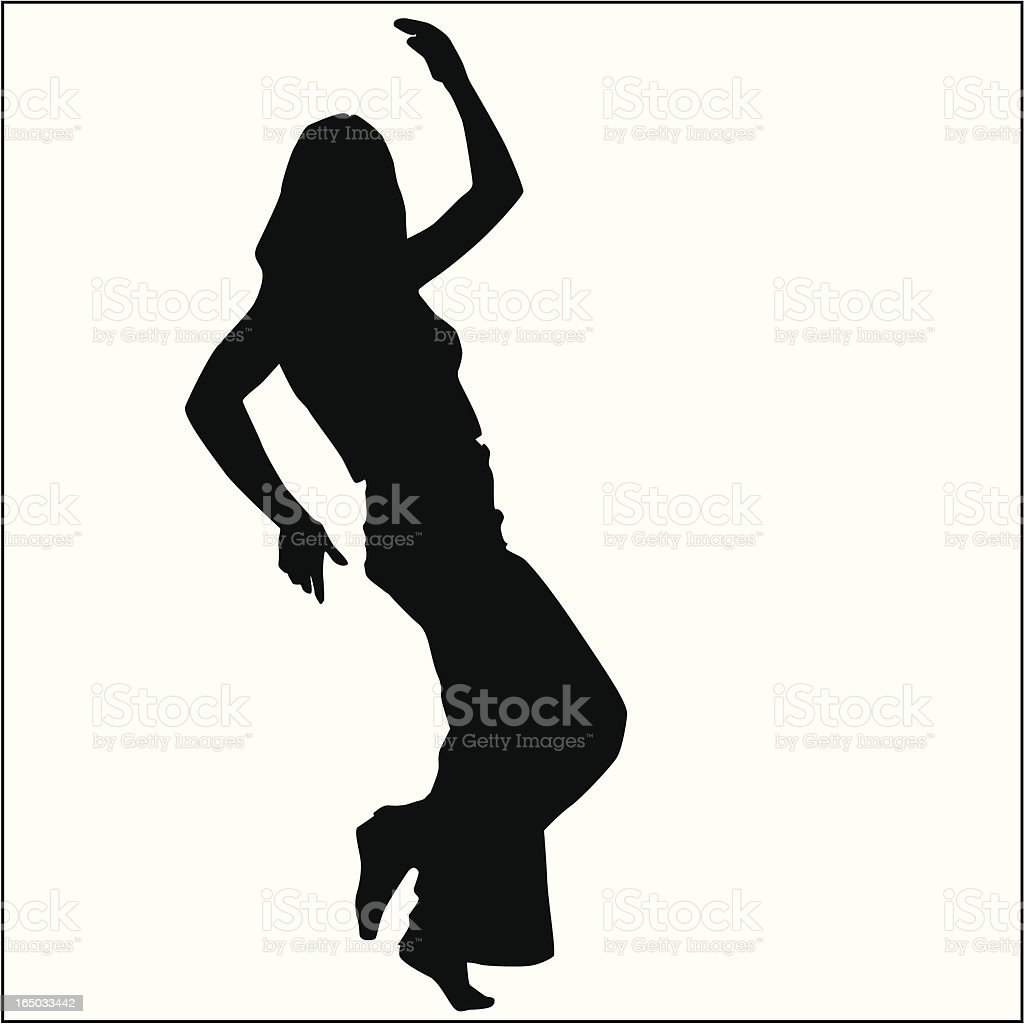Action Posing Girl 12 royalty-free stock vector art