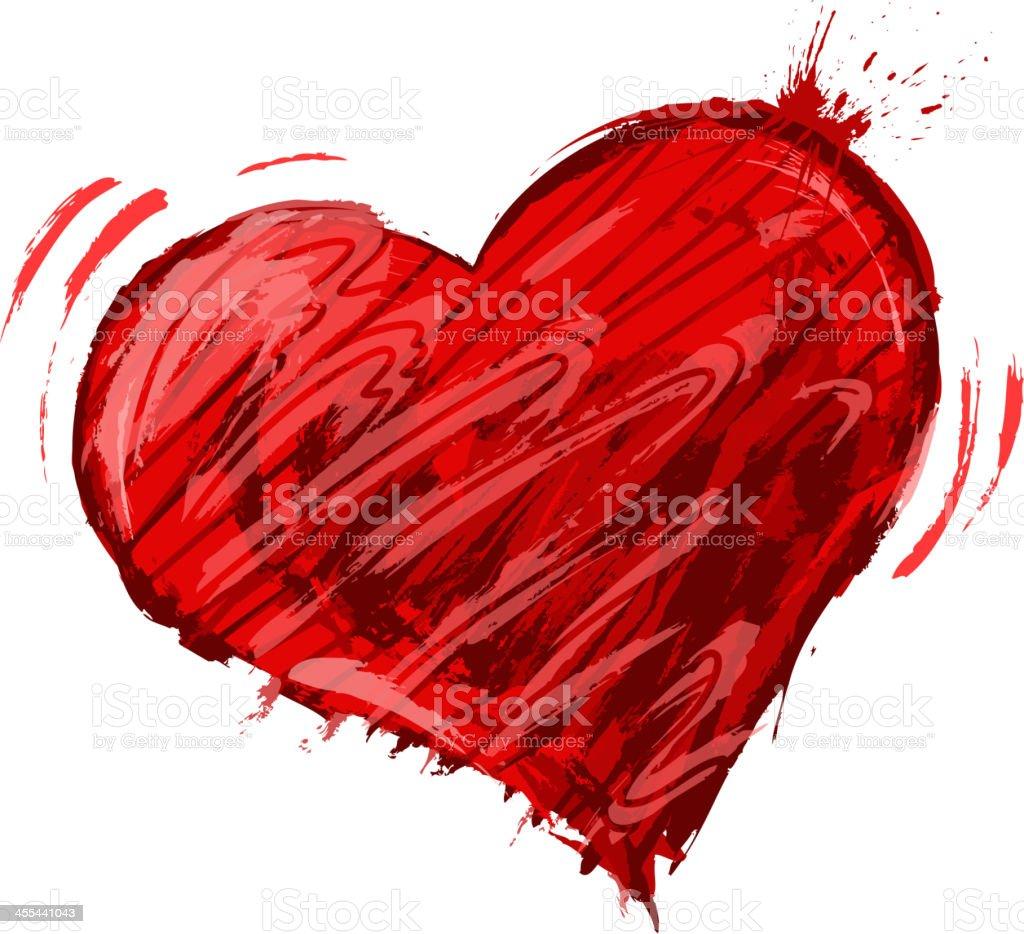 action print heart shape royalty-free stock vector art