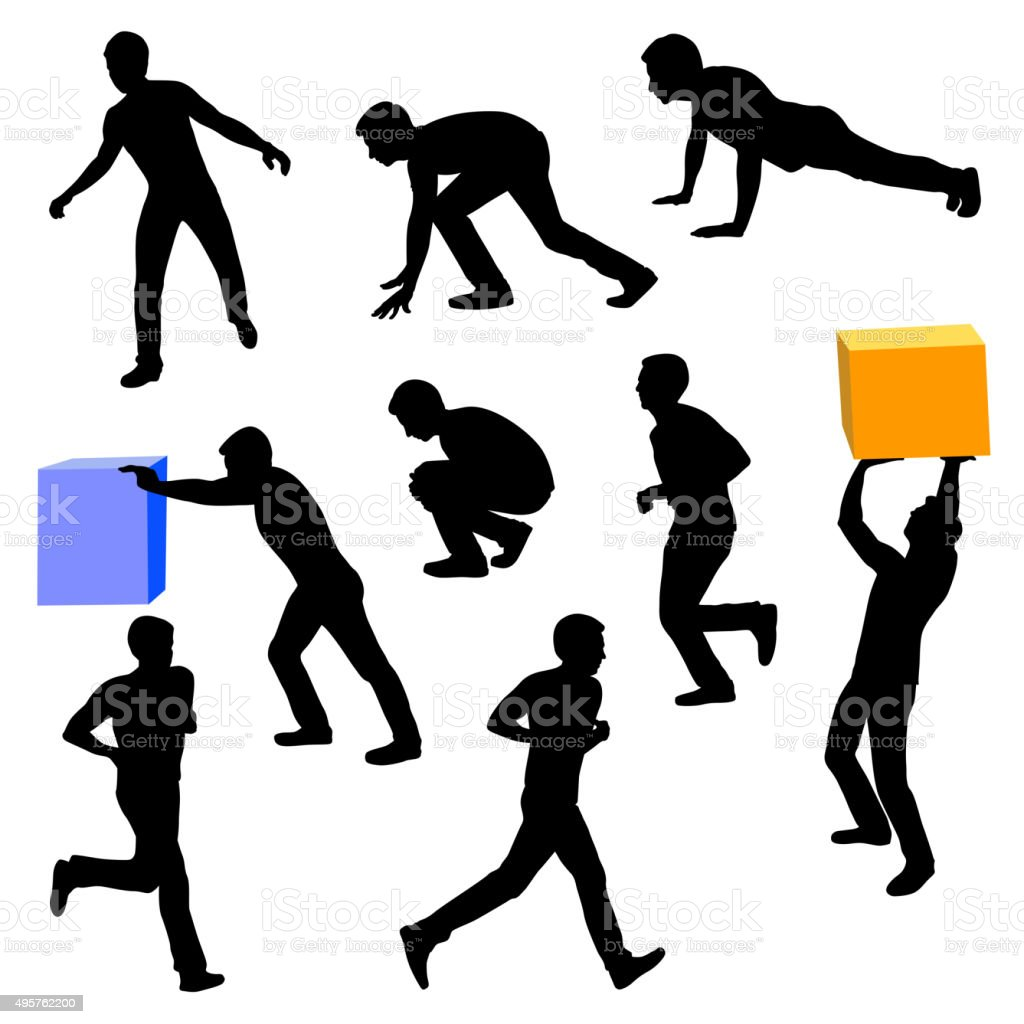 Actions vector art illustration