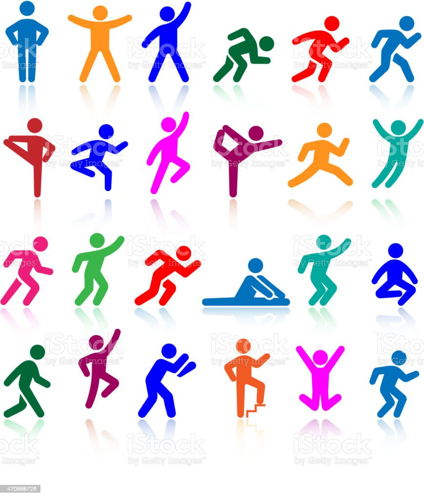 Active Lifestyle People And Vitality Vector Icon Set stock ...