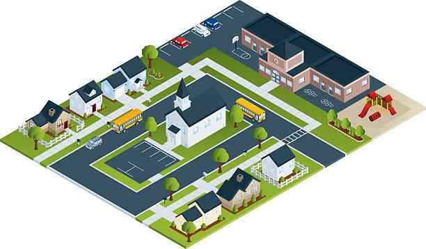 Aktive Viertel – Vektorgrafik