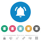 istock Active notification flat round icons 1129231102
