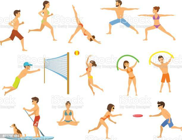Active people men and women on the beach exercising do yoga aerobics vector id821792434?b=1&k=6&m=821792434&s=612x612&h=p7rg6v 0tv7gvq9dimgedbw50zihtnjnutyjw 3vply=