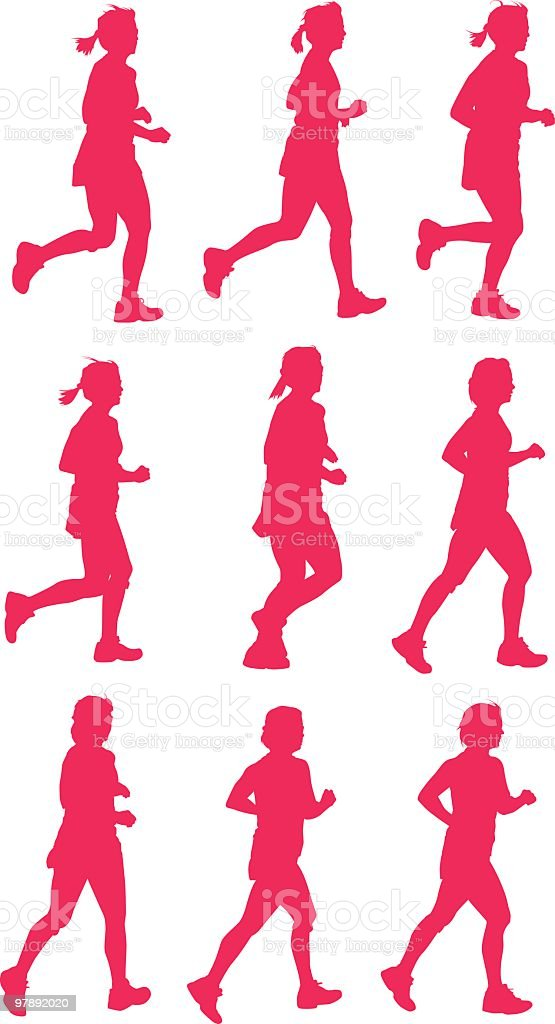 Active running women royalty-free active running women stock vector art & more images of adult