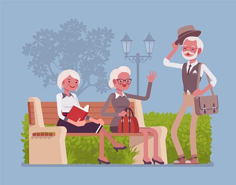 Senior stock illustrations