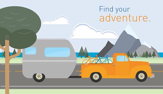 Active seniors on adventure