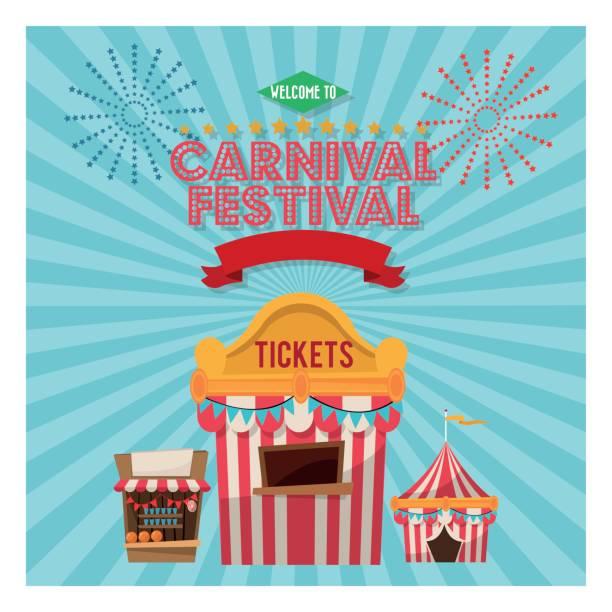 Actividades de carnaval y festival - ilustración de arte vectorial