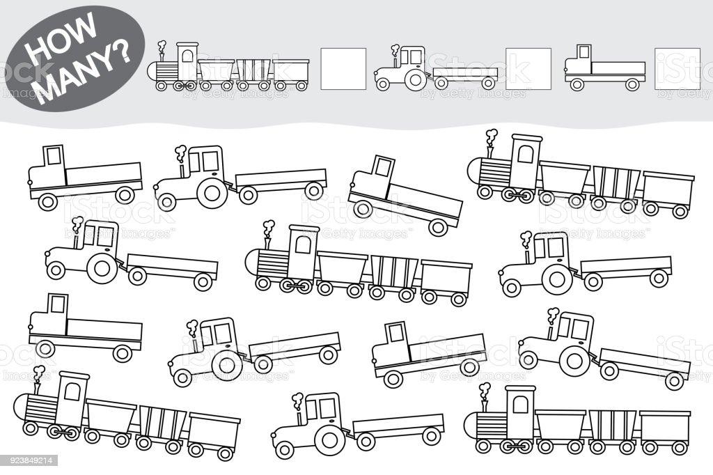 Aktivitäten Für Kinder Lernspiel Zählen Sie Wieviele Transport Und ...