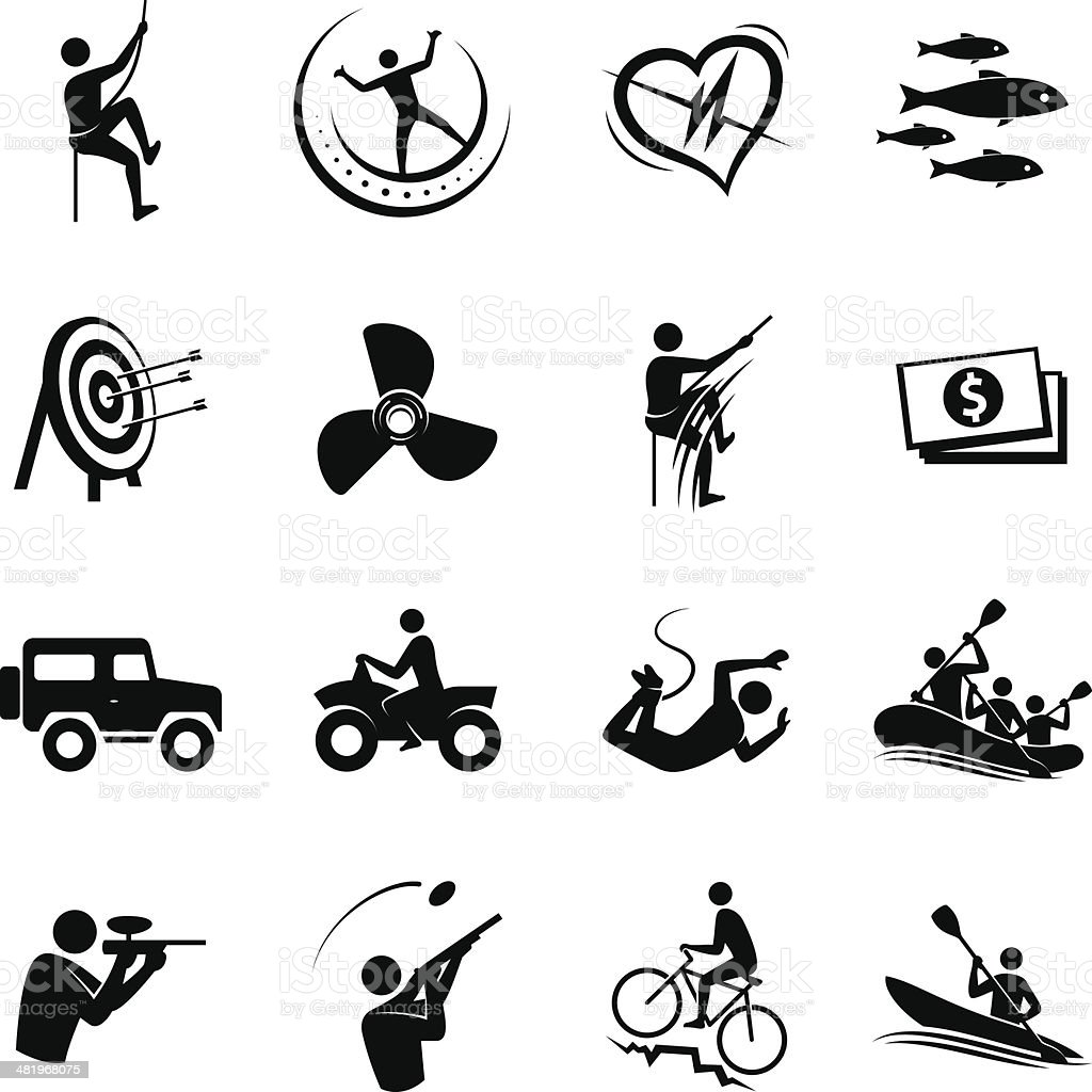 Activity icons vector art illustration