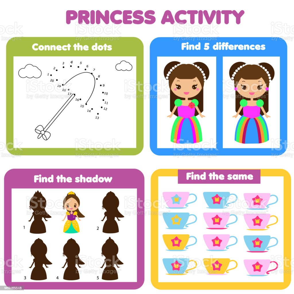 Ilustración de Página De La Actividad Para Los Niños Educativo De ...