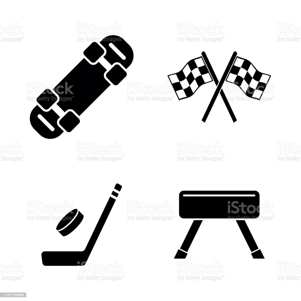 Activity Sport Games. Simple Related Vector Icons Set for Video,...