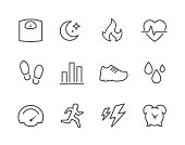 Simple Set of Activity Tracking Related Vector Icons for Your Design.