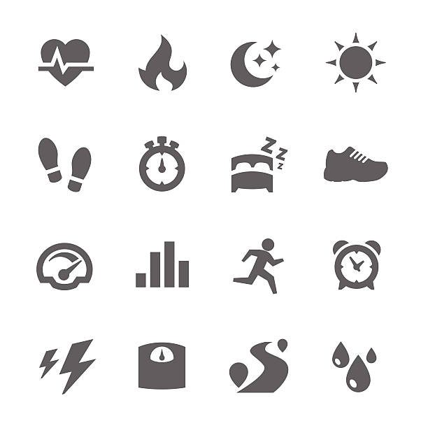 aktivität tracking-icons - möbelfüße stock-grafiken, -clipart, -cartoons und -symbole