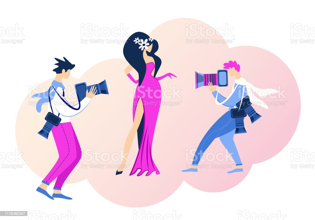 Actress Superstar Posing Red Carpet For Paparazzi Stock Illustration Download Image Now Istock