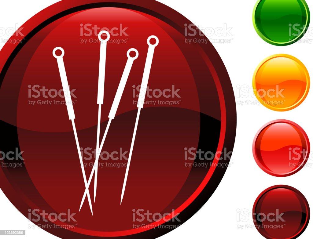 Acupuntura agujas internet de arte vectorial libre de derechos - ilustración de arte vectorial