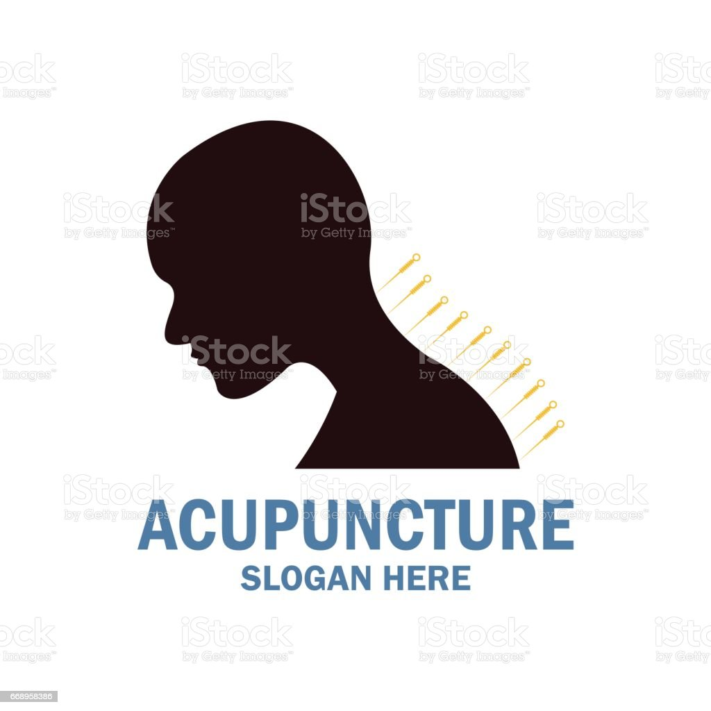 acupuncture therapy icon with text space for your slogan / tagline, vector illustration acupuncture therapy icon with text space for your slogan tagline vector illustration - immagini vettoriali stock e altre immagini di accudire royalty-free