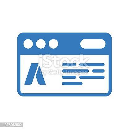 istock Ad Campaign icon / blue color 1257262832