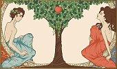 Adam and Eve, art-nouveau style