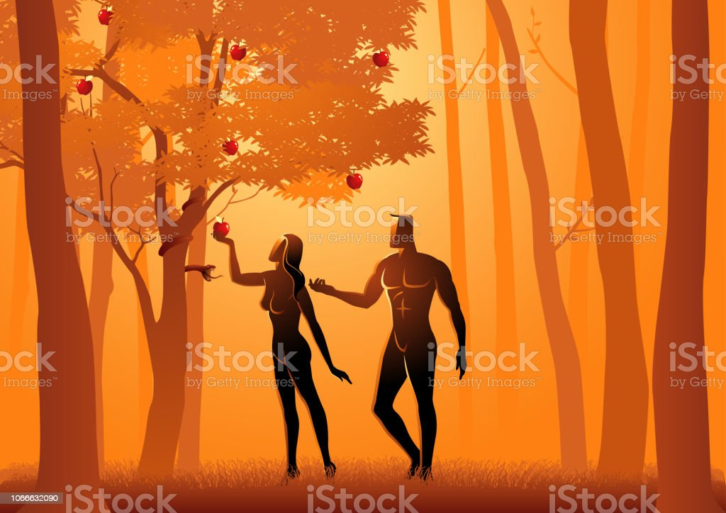 Adam und Eva – Vektorgrafik
