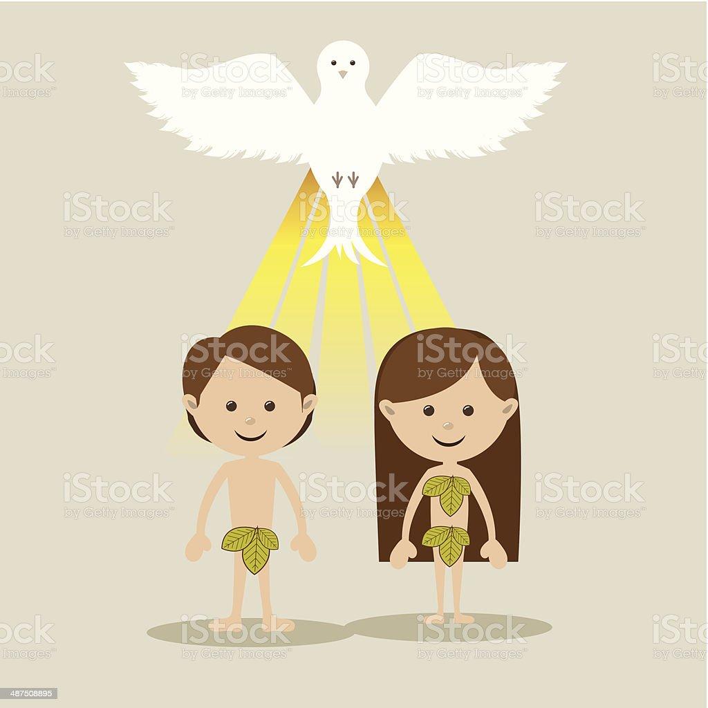 Adam And Eve – Vektorgrafik