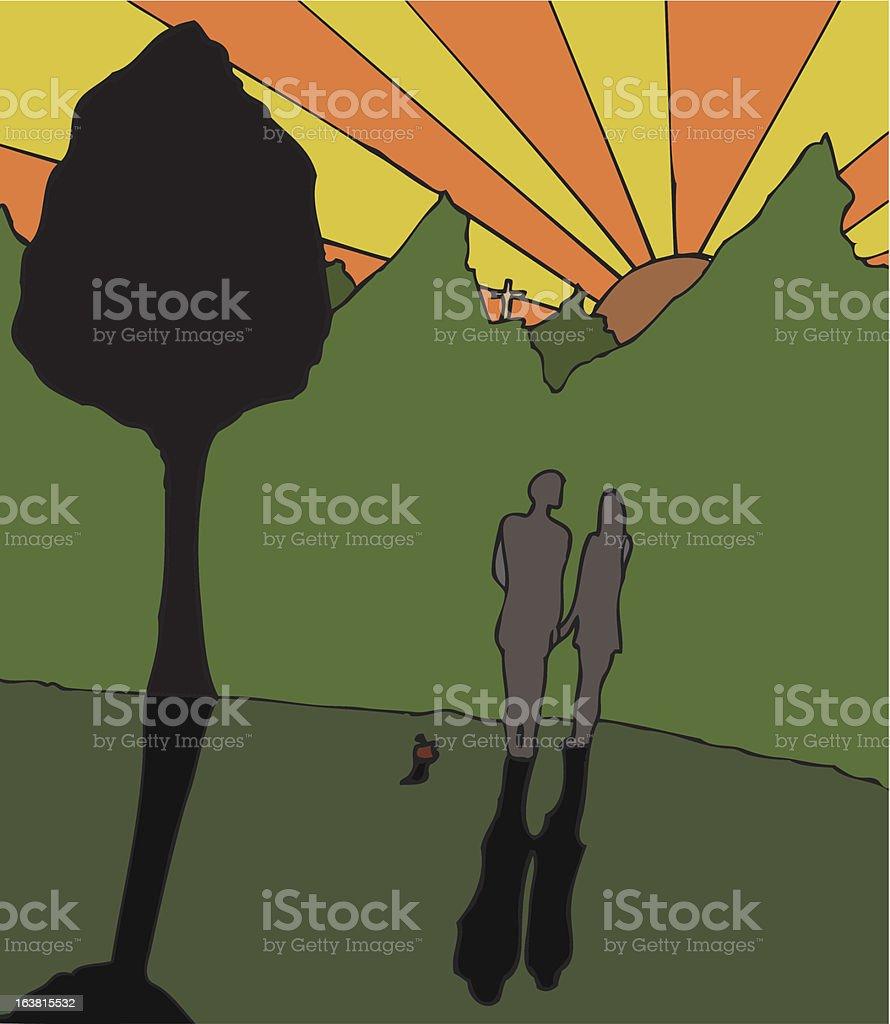 Adam und Eves Einlösung – Vektorgrafik