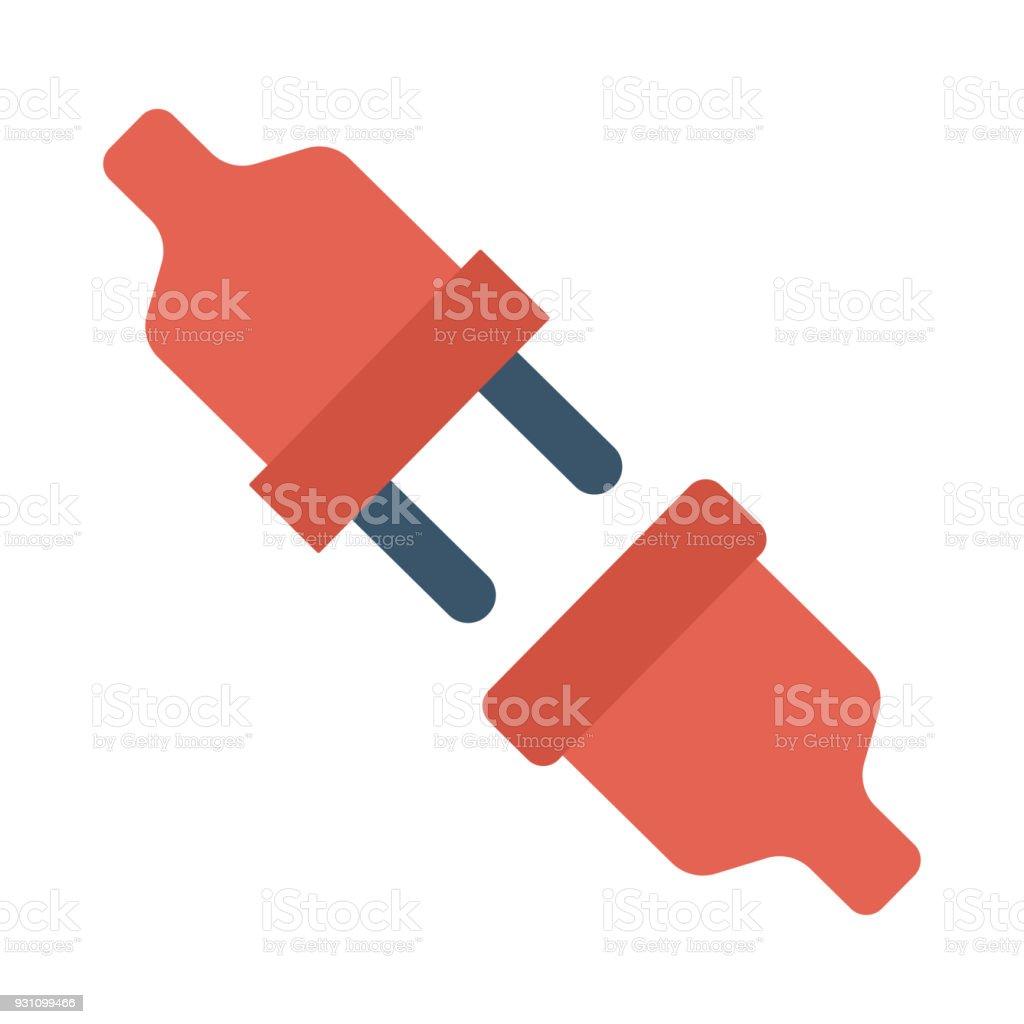 Fiş adaptörü - Royalty-free ABD Vector Art