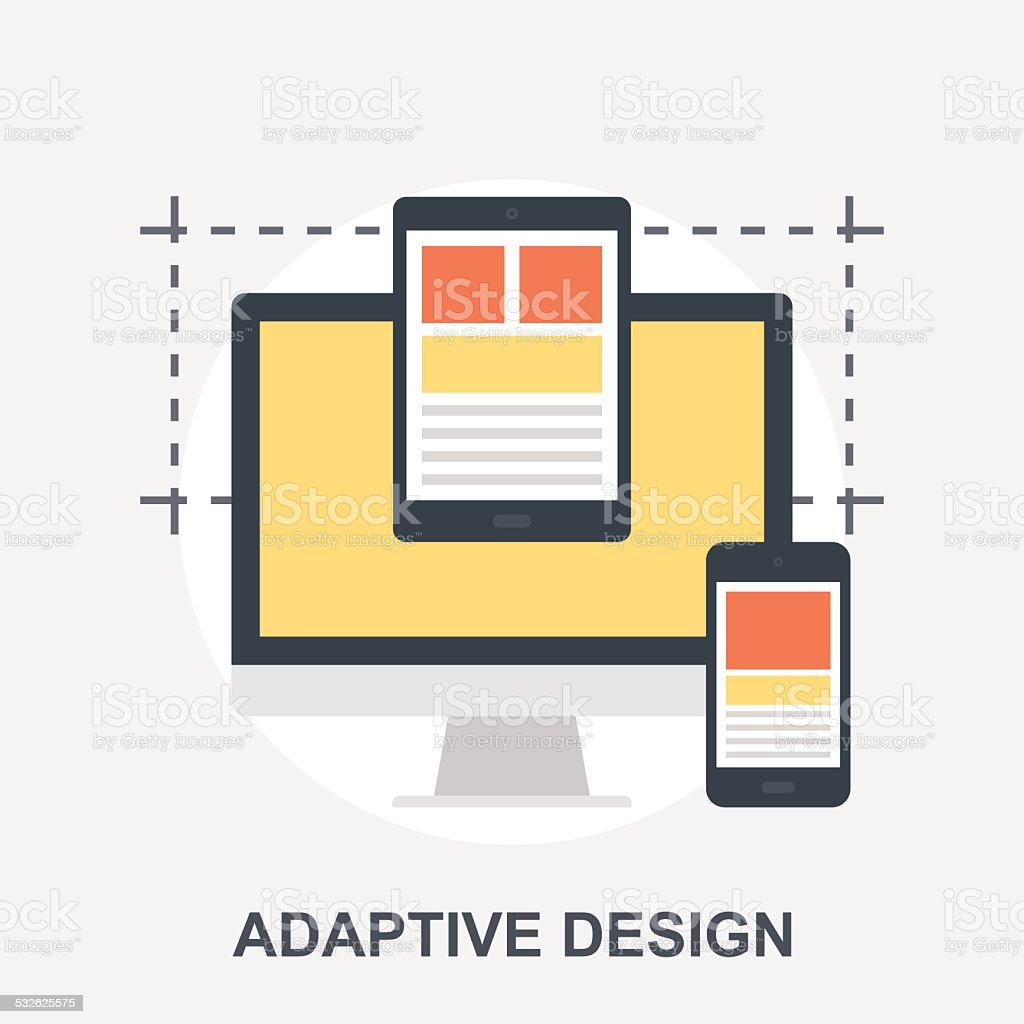 Adaptive Design vector art illustration
