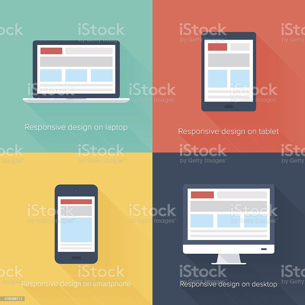 Adaptive web design vector art illustration