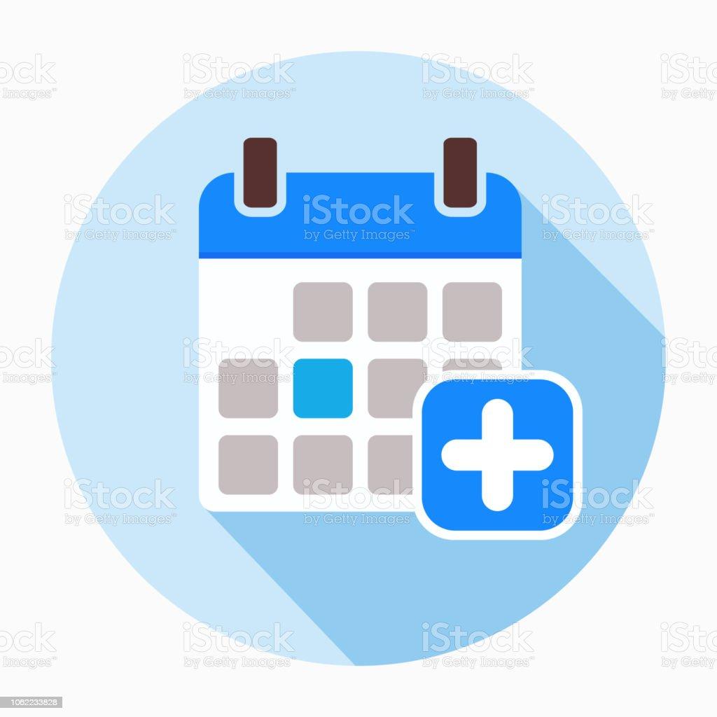 Anadir Calendario.Ilustracion De Anadir Calendario Icono De Vectores Signo