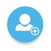 Add Friend. Icon. Vector illustration
