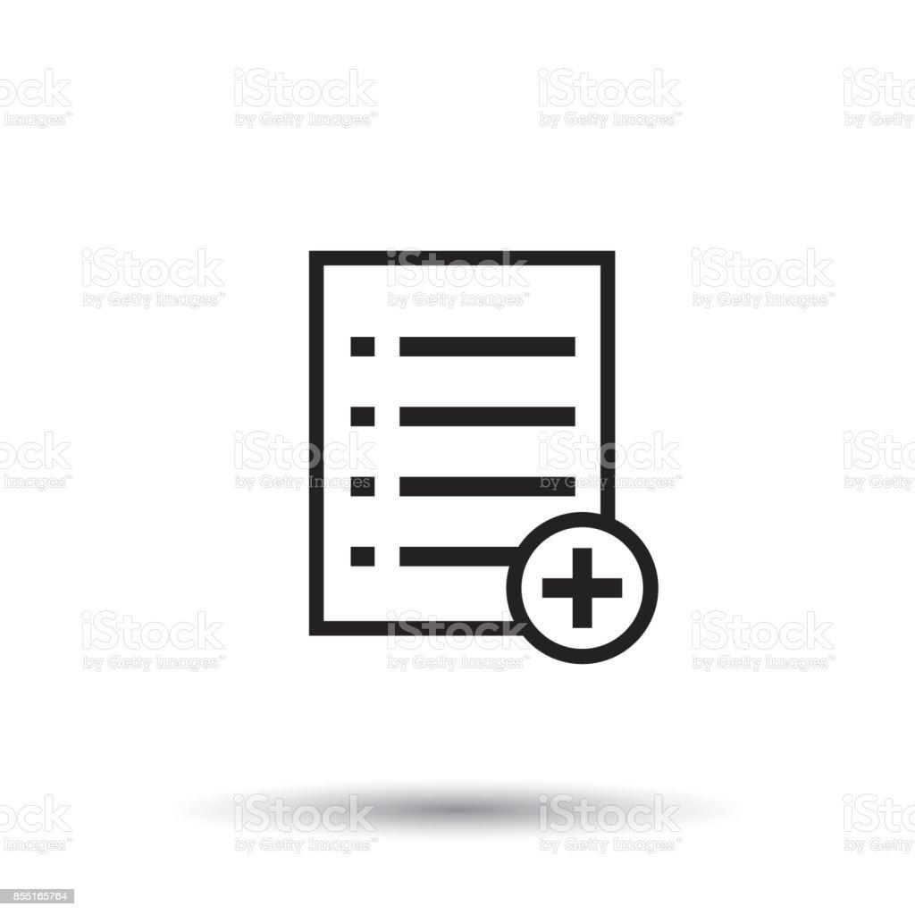 Fügen Sie Liste Dokumentsymbol Flach Vektorgrafik Isolierte Dokumente Symbol Papier Seite ...